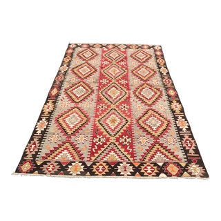 Turkish Old Anatolia Kilim Rug - 5'11 X 10'8""