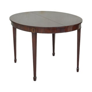 Kindel Oxford Finish Mahogany Federal Style Oval Dining Table W/ 3 Leaves