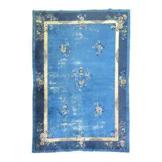 Shabby Chic Chinese Peking Rug, 7' x 9'7'' For Sale