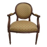 Image of Ethan Allen Newport French Carved Lounge Chair For Sale