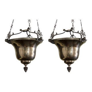Late 19th Century Spanish Uplights - A Pair For Sale
