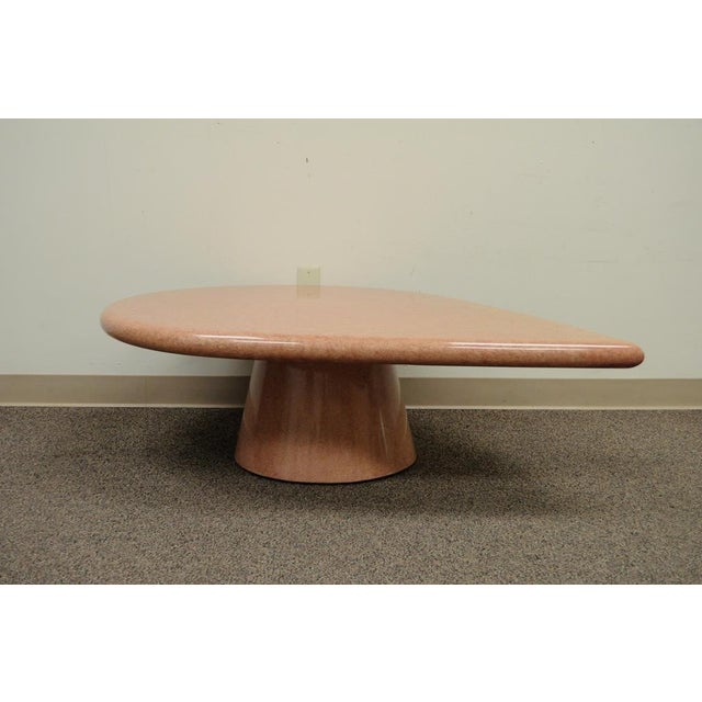 Vintage Mid-Century Modern Hollywood Regency Pink Tear Rain Drop Coffee Table - Image 4 of 11