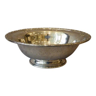 """Sterling Silver Footed Bowl """"Royal Rose"""" For Sale"""