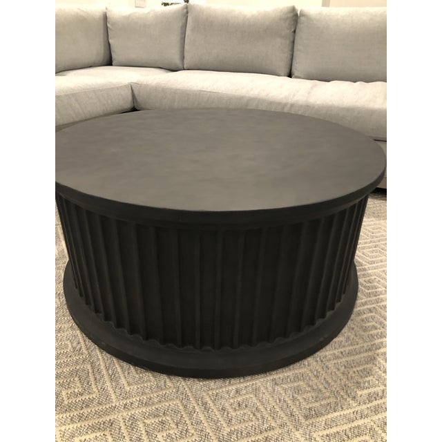 Noir Round Rustic Coffee Table For Sale In Houston - Image 6 of 7