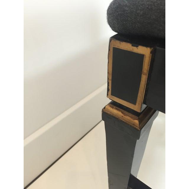 Hepplewhite Style Ebony Chinoiserie Chair - Image 8 of 10