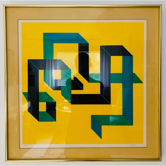 1980s Limited Edition Abstract Painting For Sale In Minneapolis - Image 6 of 6