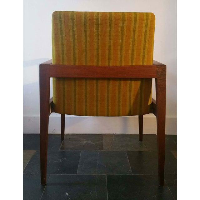 Jens Risom Walnut Cube Desk Chair - Image 5 of 7