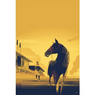 COntemporary Danish Poster, Horse and Rider, Mads Berg For Sale