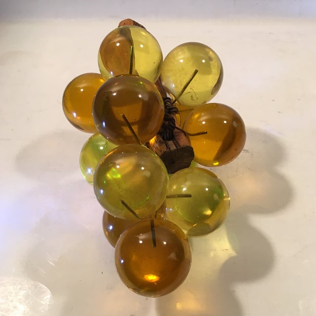 Amber Lucite Grapes - Image 6 of 8
