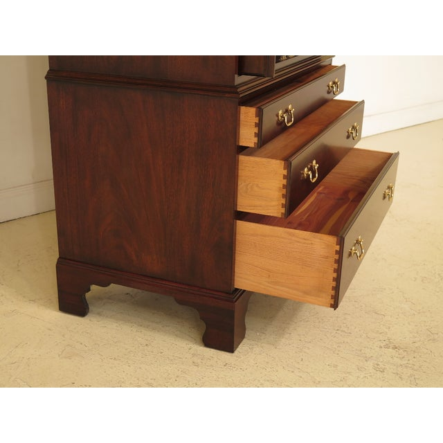 Brown 1990s Traditional Henkel Harris Mahogany TV Armoire For Sale - Image 8 of 12