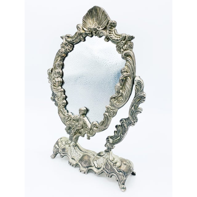 Art Nouveau Dressing Table Mirror For Sale - Image 9 of 9