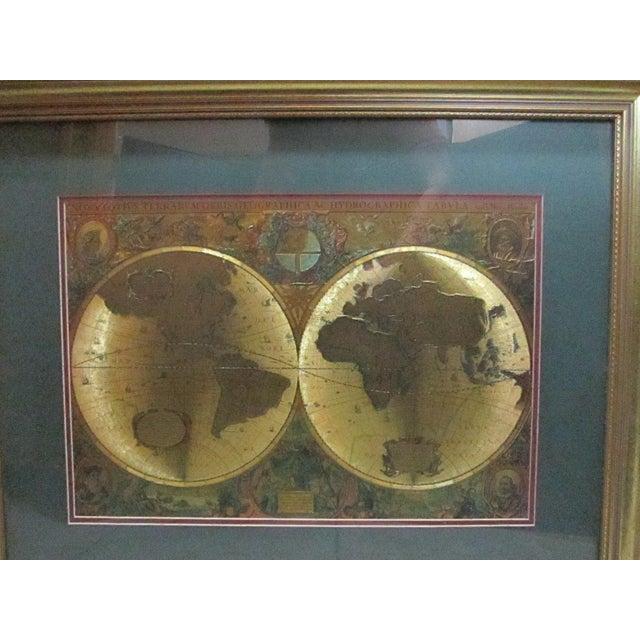 Framed gold foil green matted renaissance world map chairish framed gold foil green matted renaissance world map image 2 of 11 gumiabroncs Images