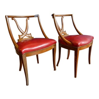 Vintage Spoonback Dining Chairs - Pair For Sale