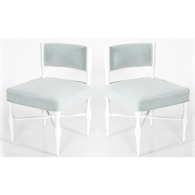 Tommi Parzinger Petite Slipper or Vanity Chairs - A Pair - Image 6 of 6