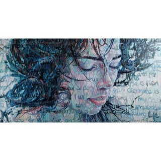 """Christina Major """"Immersed"""" Oil on Canvas Painting For Sale"""