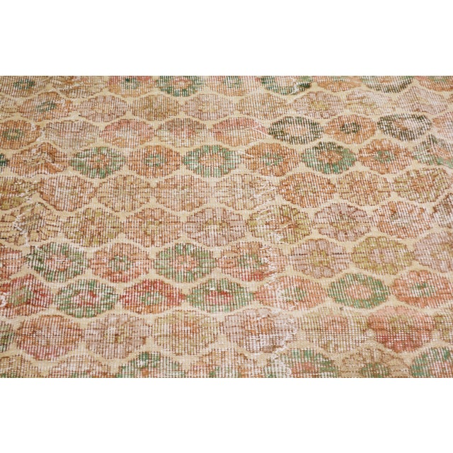 "Shabby Chic Vintage Turkish Hand Knotted Whitewash Organic Wool Fine Weave Rug,6'x9'3"" For Sale - Image 3 of 6"