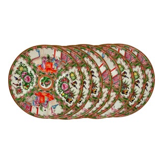 Vintage Famille Rose Chargers / Placemats - Set of 8 For Sale