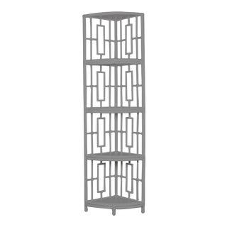 Trinity Corner Etagere - Light Gray For Sale