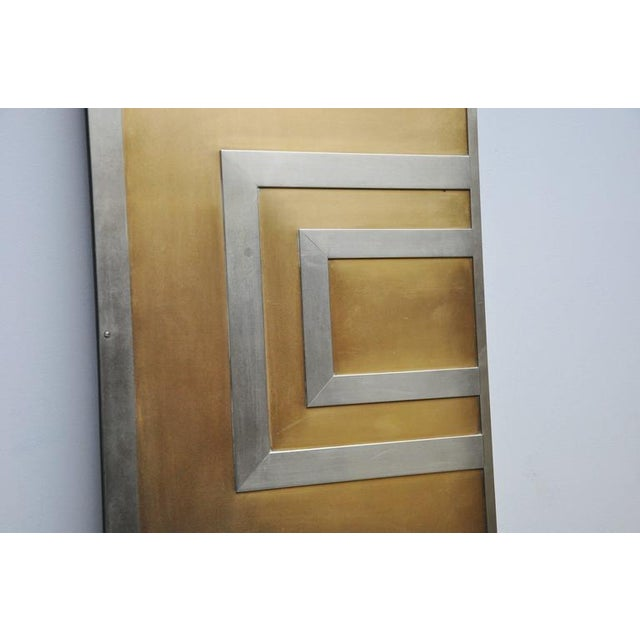 Glamorous Bronze and Stainless Entry Doors For Sale - Image 4 of 7