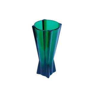 Green Glass Flower Vase For Sale