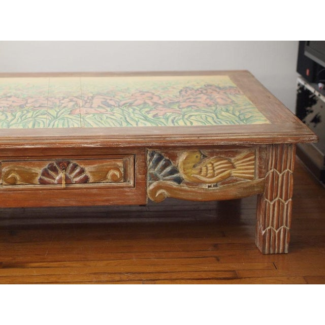 Disenos Caaesa Mexican Painted & Carved Coffee Table For Sale - Image 4 of 8