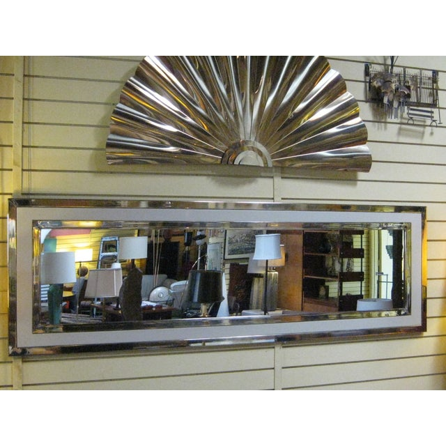 Large Nickel And Lacquer Mirror - Image 2 of 4