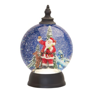 Kenneth Ludwig Chicago Round Santa Snow Globe For Sale