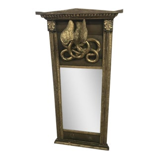 Early 19th Century Wood Carved Pier Mirror For Sale