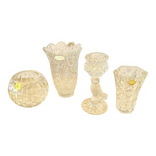 Vintage Lead Crystal Collection - Set of 4 For Sale