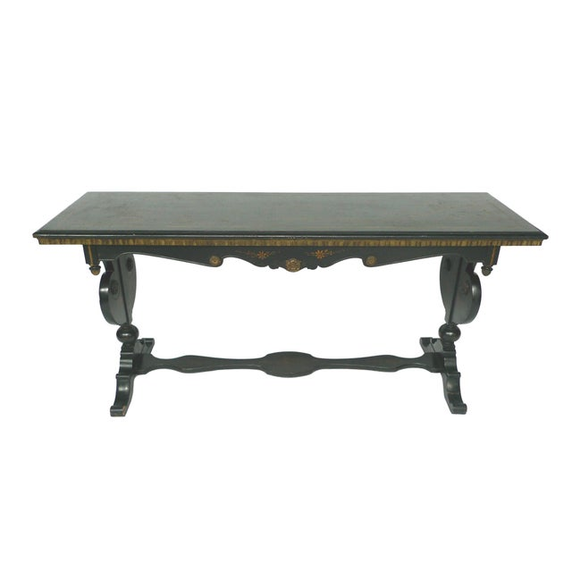 Chinoiserie Decorated Wooden Console Table - Image 2 of 10