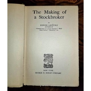 Making of a Stockbroker by Lefevre First Edition Preview