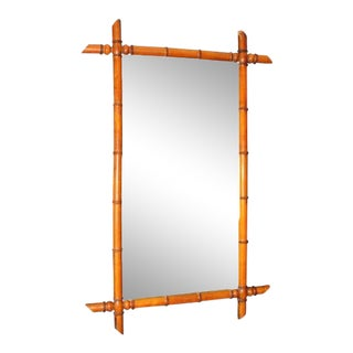 French Faux Bamboo Mirror For Sale