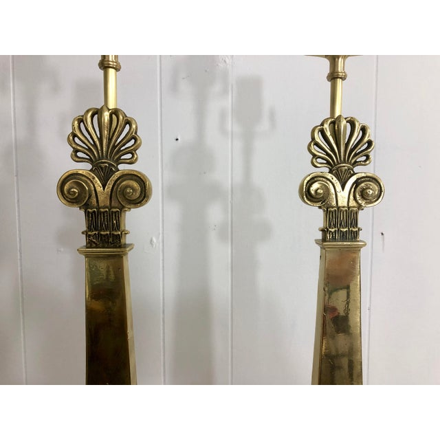 1920s French Empire Style Lamps a Pair For Sale - Image 5 of 9
