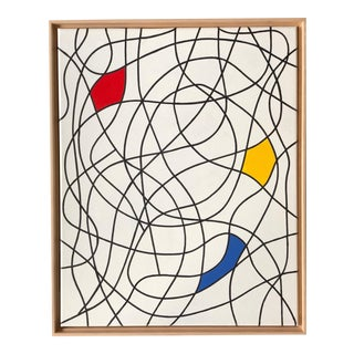 """Modern Day Mondrian"" Abstract Painting by Tony Curry For Sale"