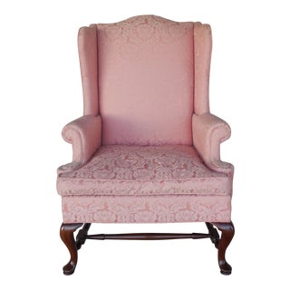 Hickory Chair Wingback Arm Chair For Sale