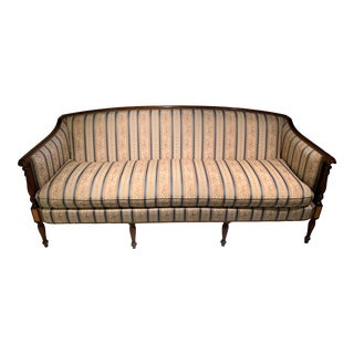 Hickory Chair Company James River Collection Sheraton Style Mahogany Sofa For Sale