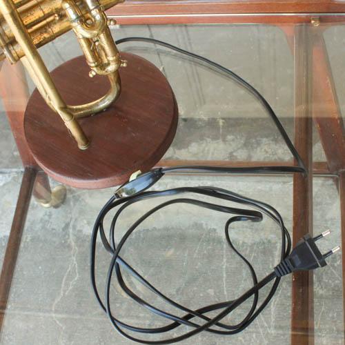 Vintage Brass Trumpet Lamp - Image 5 of 7