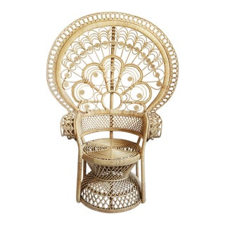 Matahari Raw Rattan Peacock Chair For Sale