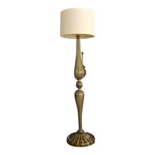Barovier Murano Bronze and Gold Glass Floor Lamp For Sale