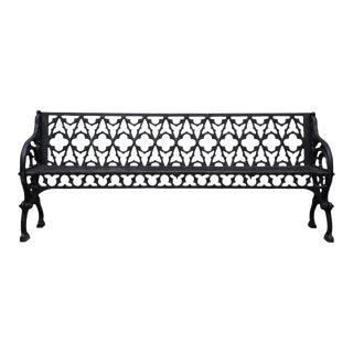 Black Cast Iron Garden Bench For Sale