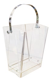 Image of Lucite Wastebaskets and Trashcans