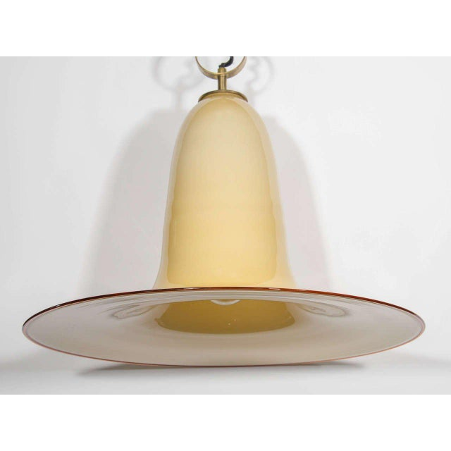 Seguso Mid-Century Murano Glass Pendant Chandelier by Seguso For Sale - Image 4 of 10