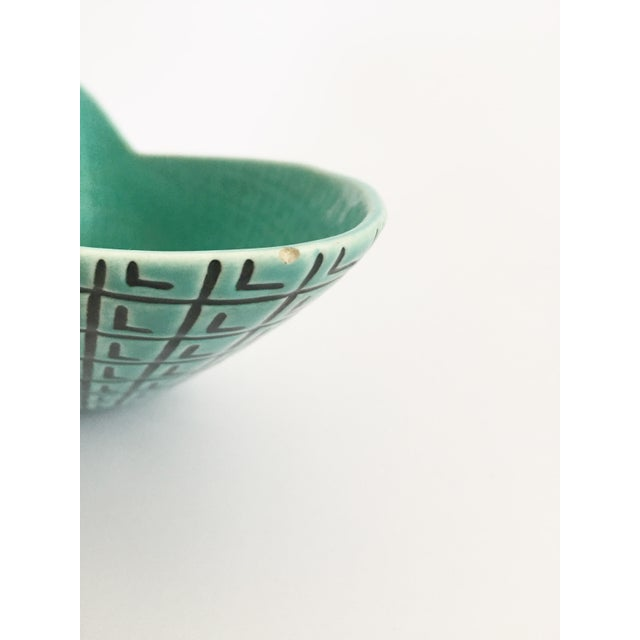 Mid Century Atomic Turquoise Planter by Roselane Pottery For Sale In San Francisco - Image 6 of 7