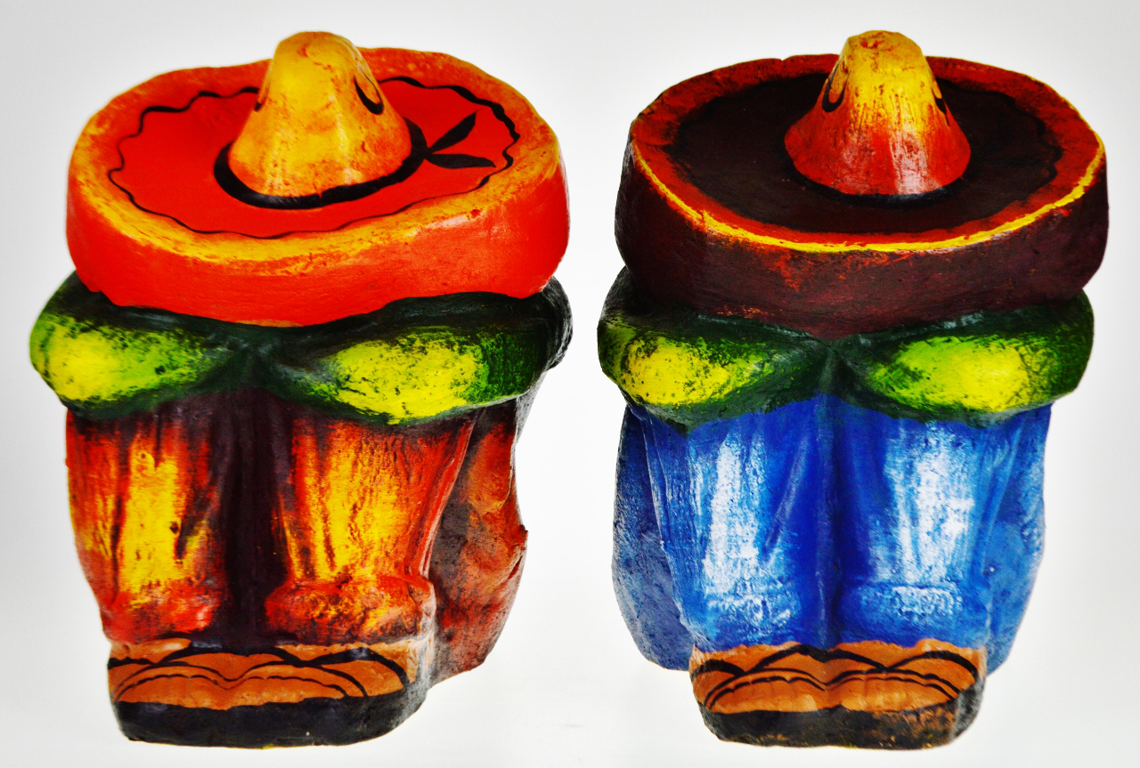 Vintage Ceramic Sleeping Mexican Garden Statues   A Pair   Image 2 Of 13