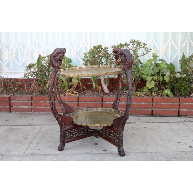 Antique Chinese 2 Tier Brass Center Table For Sale - Image 12 of 12