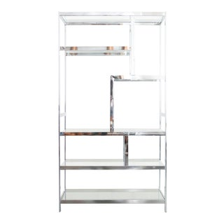 Milo Baughman Chrome Shelf For Sale