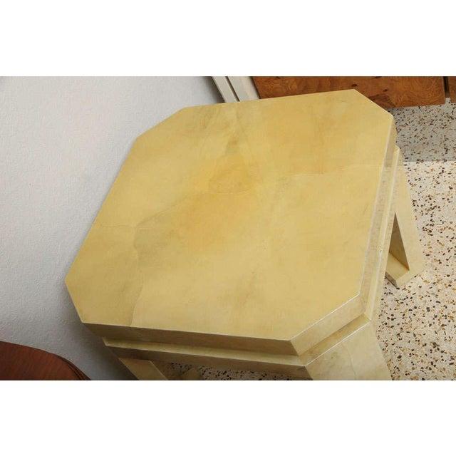 Large Enrique Garces Parchment End Table For Sale In Miami - Image 6 of 10