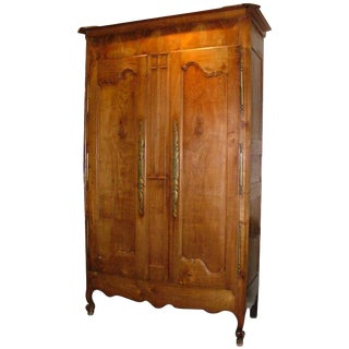 French Provencial Fruitwood Armoire, Circa 1820-1830 For Sale