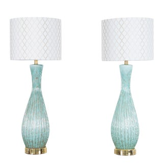 Vintage Murano Glass Lamps - A Pair