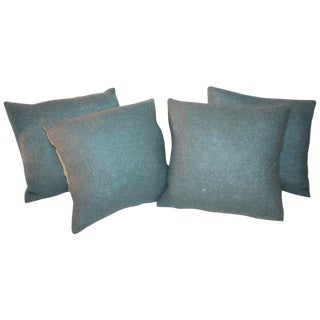 Mohair and Linen Pillows - Set of 4 For Sale